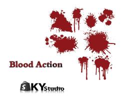 جلوهای ویژه پاشیدن خون (action Blood)